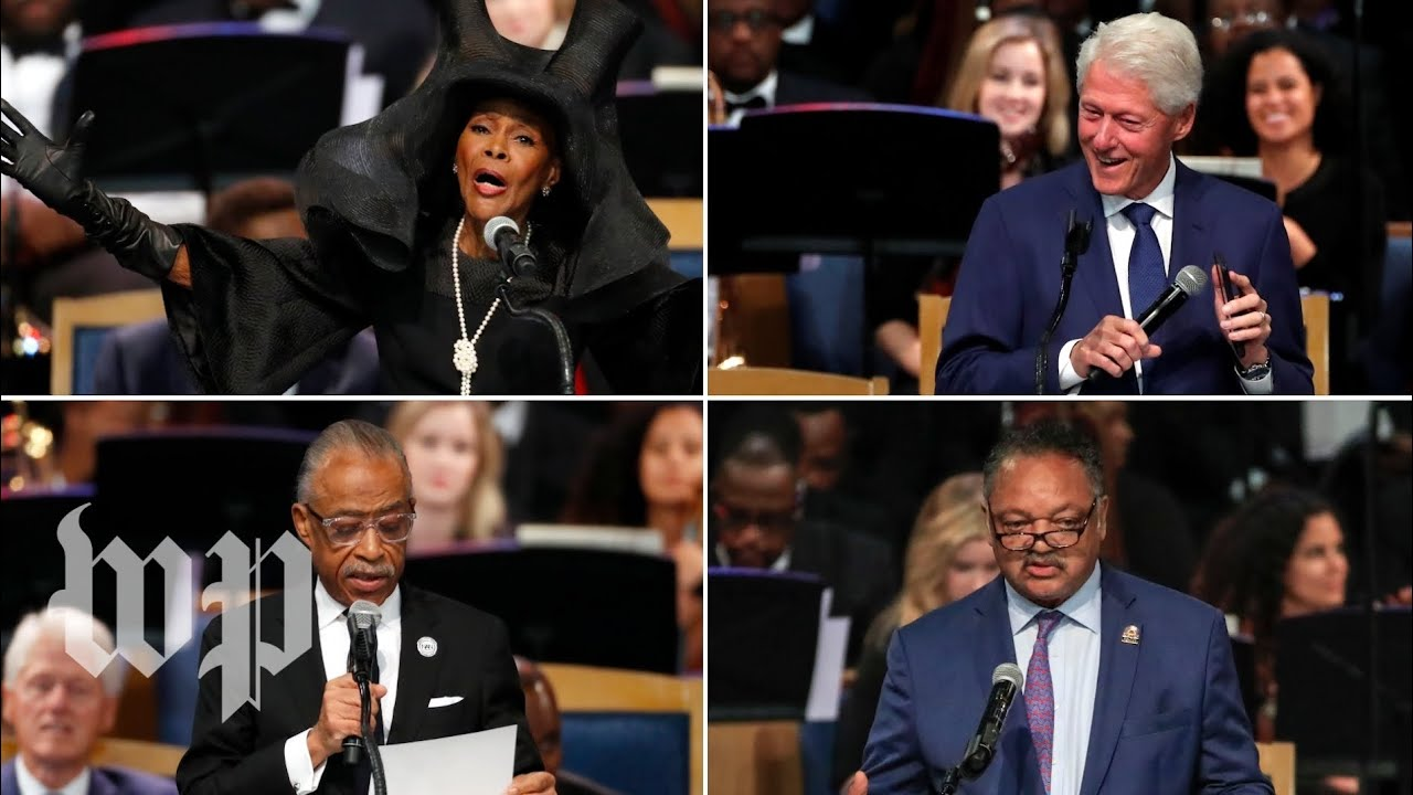 Touching speeches from Aretha Franklin's funeral
