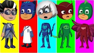 wrong heads pj masks gekko catboy owlette and romeo finger family songs collection