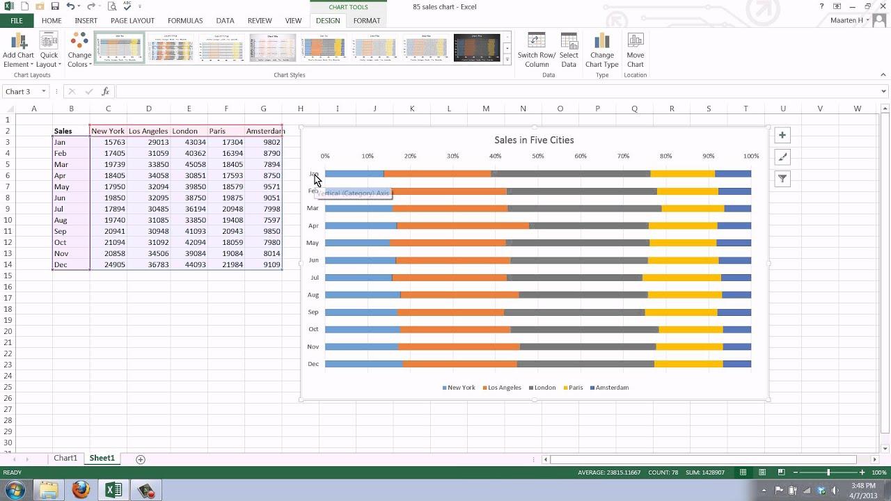 Bar Graph Template Excel