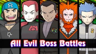 Pokemon Ultra Sun and Ultra Moon - All Evil Boss Battles [Team Rainbow Rocket]