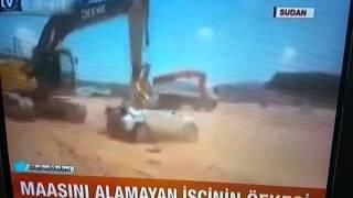 Arbeiter Wut, Sudan, işçiler Jipi çöplük etti