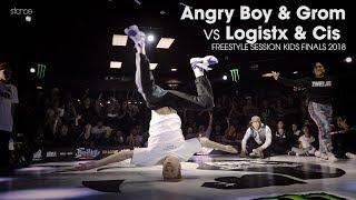 Angry Boy & Grom vs Logistx & Cis - Finał Kids 2vs2 na Freestyle Session 2018
