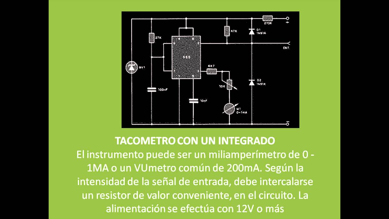 Como Hacer Un Tacometro Con Integrado 555 By Alejandro Ramirez Temporizador Descarga Calculador De Frecuencia