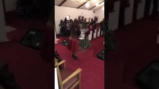 First Lady Bridgette Plater Giving God A Praise