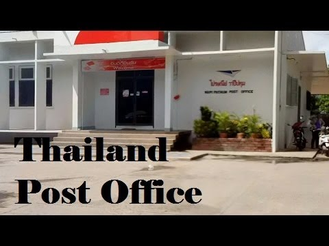 Quick trip to a Thailand post office