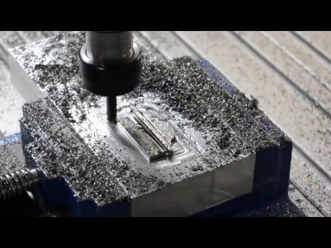 Milling stainless steel with homemade CNC router