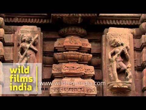 Architectural work on the walls of Muktesvara deula - Odisha