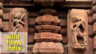 Architectural work on the walls of Muktesvara deula - Odisha