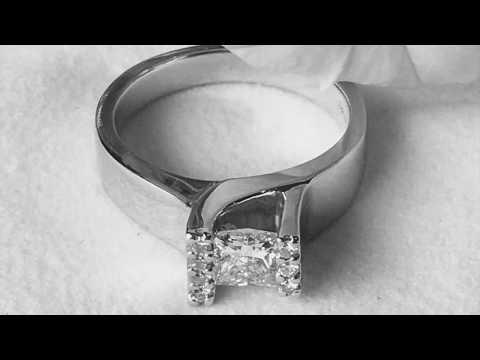 Jon and Elita's Custom Engagement Ring: Omori Diamonds Winnipeg Manitoba