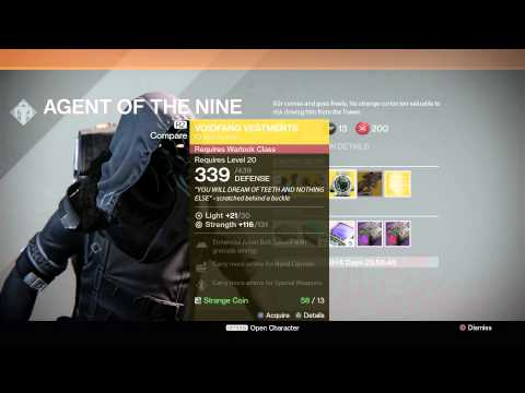 Xur has set up shop in the tower Nov 21 - Nov 23 - MIDA Multi Tool Exotic Scout Rifle