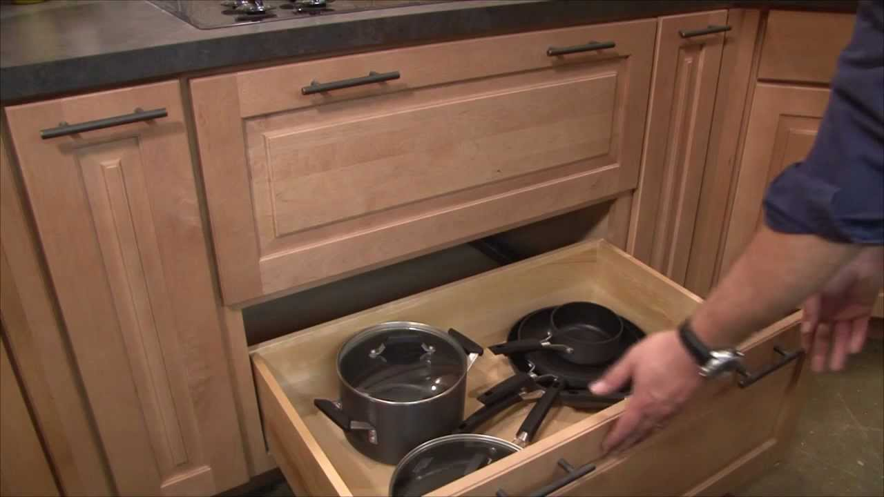 Kitchen Cabinets Pots Pans Storage Youtube