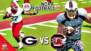 NCAA Football 17 | GEORGIA vs SOUTH CAROLINA | Sunday College Football Kick-Off Match Up Gameplay!