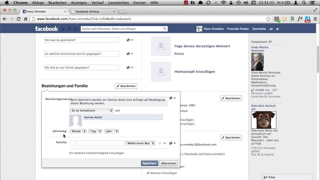 facebook beziehungsstatus