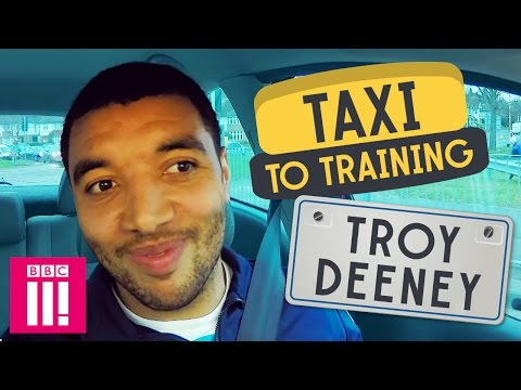 Watford F.C.'s Troy Deeney   Taxi to Training