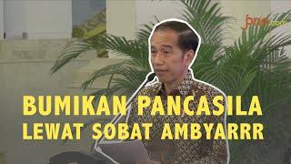 Jokowi: Tak Masalah Nebeng Sobat Ambyar untuk Bumikan Pancasila - JPNN.com