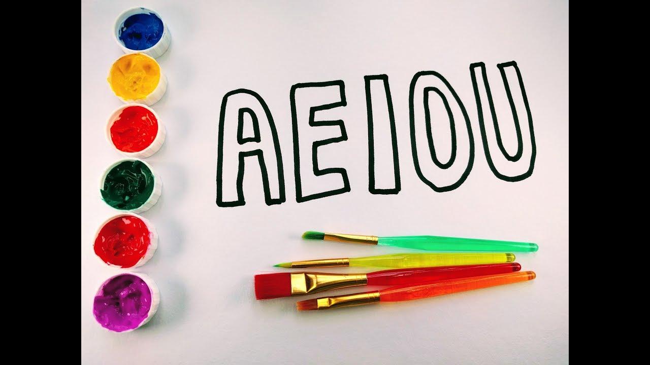 Dibujar Y Colorear Las Vocales Dibujos Para Niños Amiguitos123