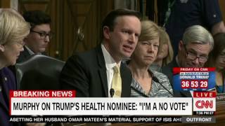 Senator Murphy Discusses Questioning Tom Price and Betsy DeVos on CNN