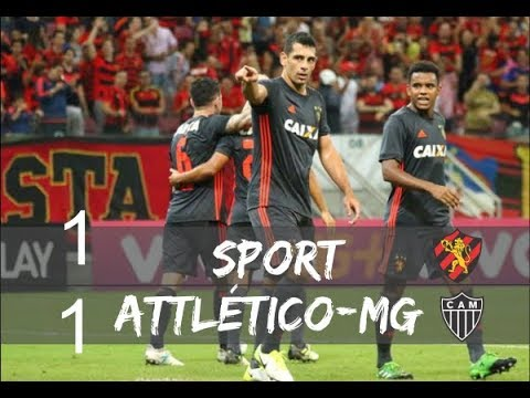SPORT 1 x 1 ATLÉTICO MG COMPLETO Melhores Momentos e Gols   Brasileirao 15  10   2017