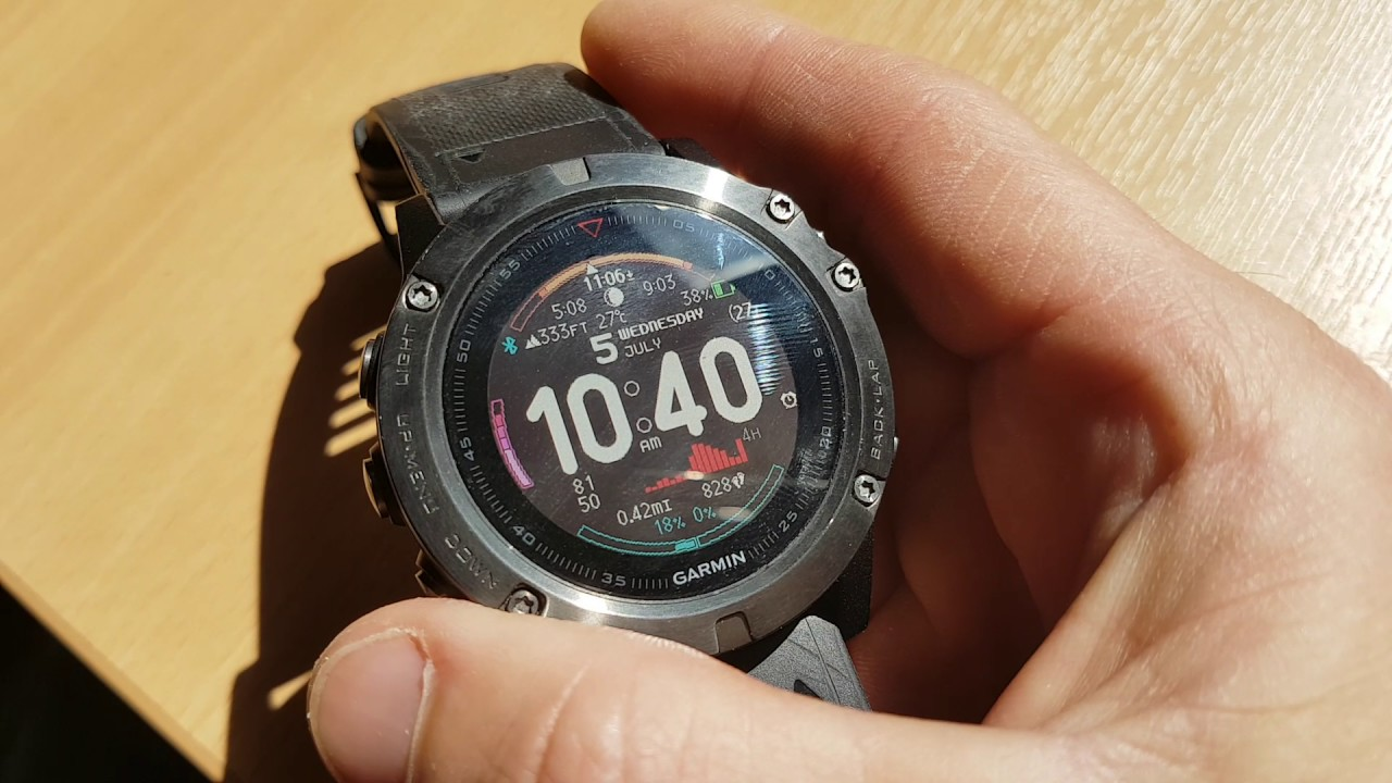 how to change watch face on fenix 5x