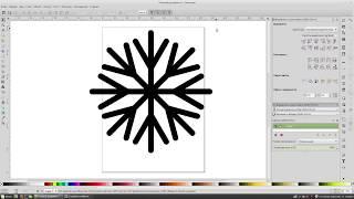 Как нарисовать простую снежинку в программе Inkscape