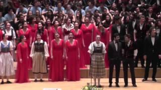 Jugendchor Jutz.ch/Schweiz & Jugendchor Bogazici Jazz Choir:  Nidwaldner Tanzliedli, EJCF Basel 2016