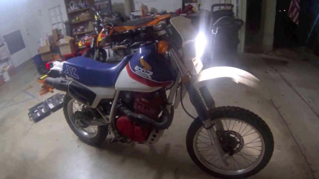 1987 Honda XL600R First Start