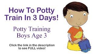 How To Potty Train In 3 Days - Potty Training Boys Age 3