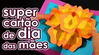 Super cartão para o Dia das Mães (origami)