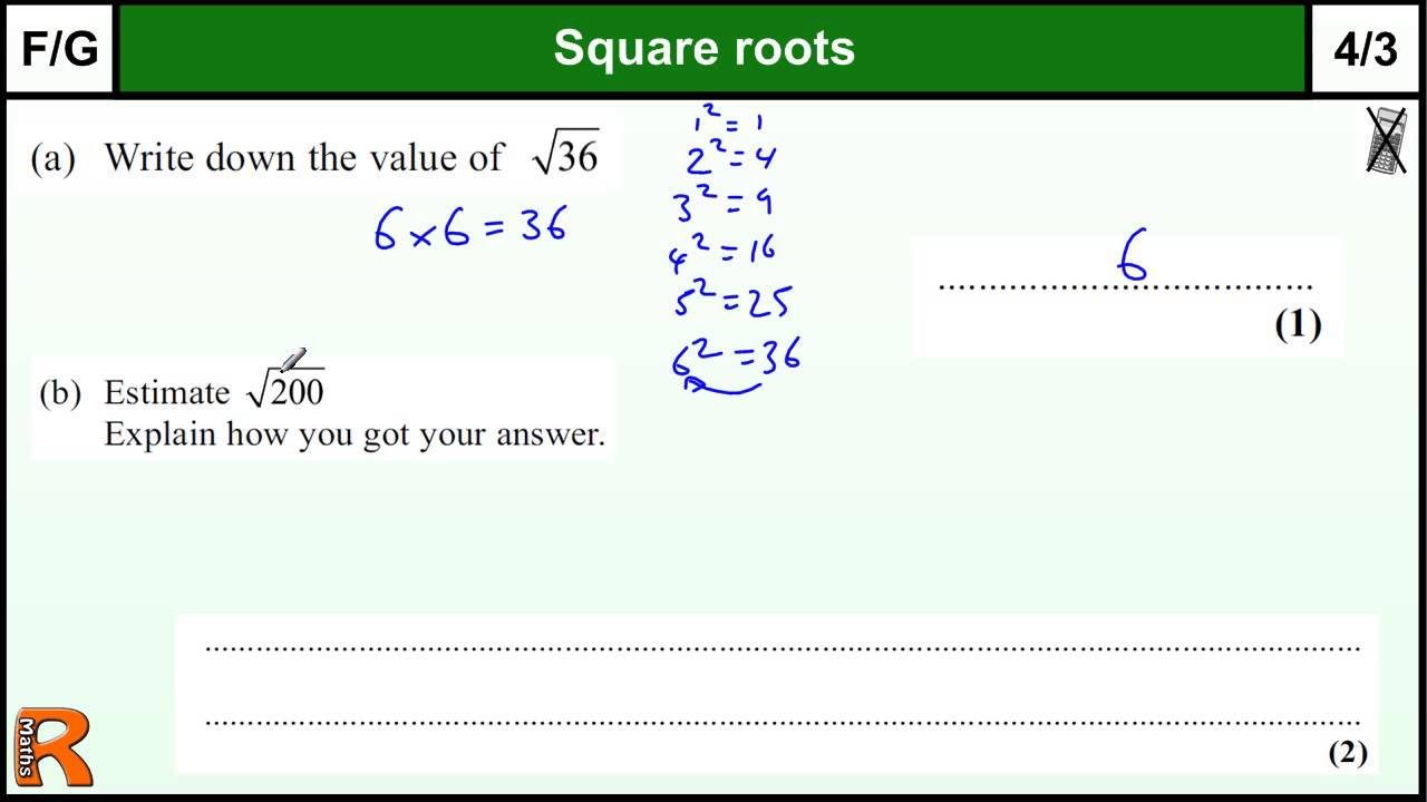 small resolution of Square Roots And Cube Roots Worksheet With Answers - Promotiontablecovers
