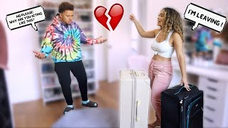 Starting An Argument Then Packing My Bags! ** cute reaction **