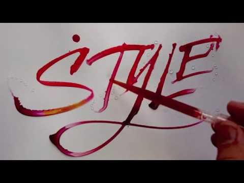 Style - Seb Lester - Water Calligraphy - HD