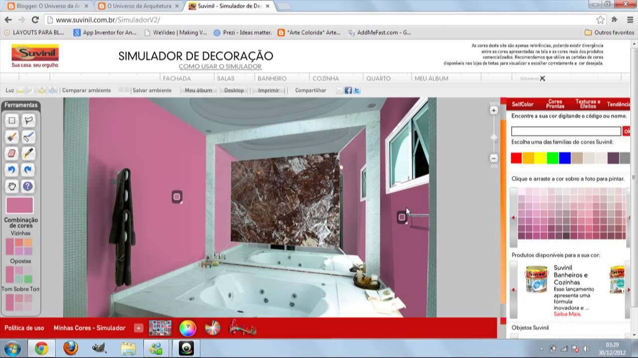 Tutorial como mecher no simulador de decora o suvinil for Simulador de casas