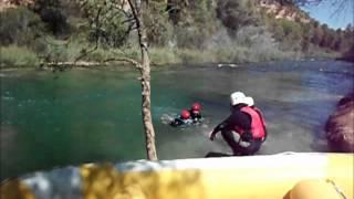 Rafting con peques en río Cabriel Valencia Albacete 14y15agosto2012