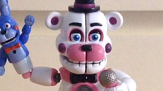 Review on fnaf sister location action figure Funtime Freddy! #1