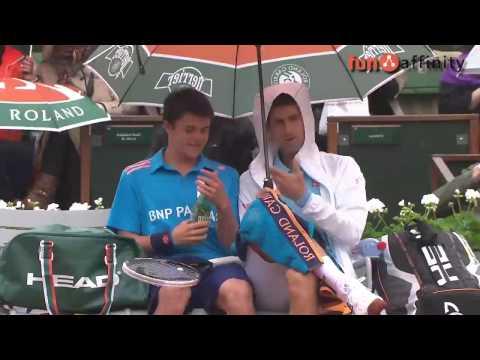 Bonito gesto del tenista Novak Djokovic