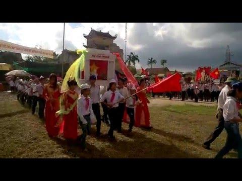 Lễ diễu hành Trại thu 2015 Xã Nam Hồng - Huyện Nam Trực - Tỉnh Nam Định