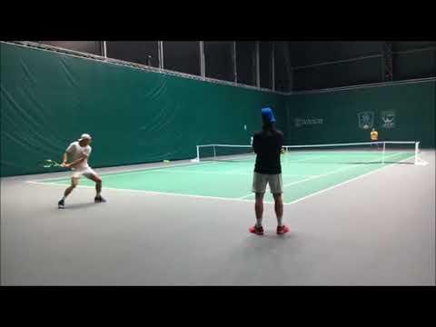 ナダルとズベレフのラリー(Nadal & Zverev Practice Paris 2017)