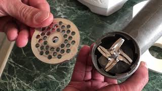 How to assemble meat grinder