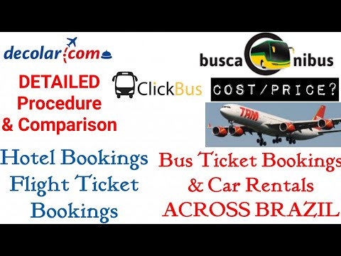 Booking Hotels - Flights - Buses | & Renting Cars across BRAZIL | Cost, Comparison in DETAIL