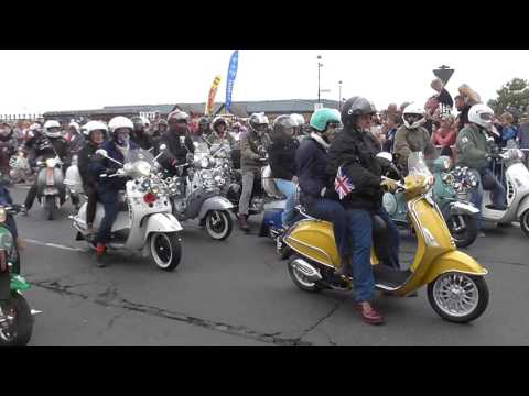Isle of Wight Scooter Rally 2016 - Ride Out - Ryde