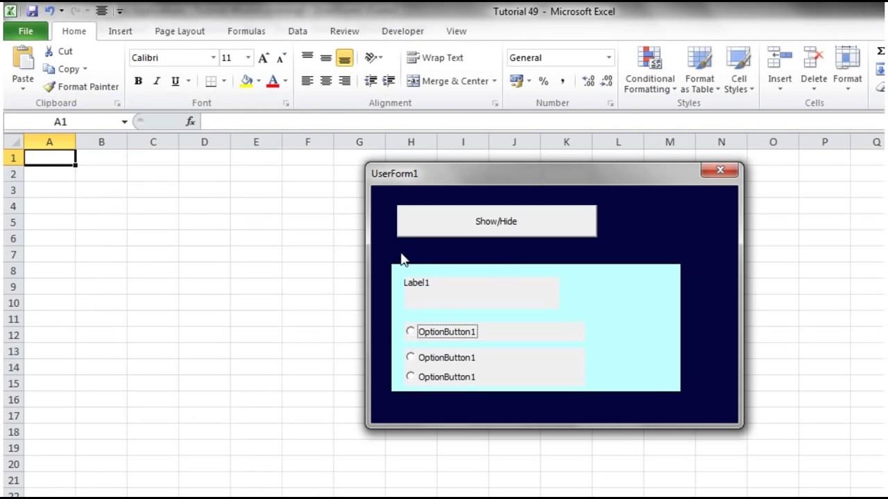 Excel 2010 VBA Tutorial 49 Userforms Frames