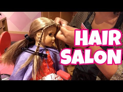 American Girl Goes To Hair Salon