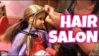 American Girl Goes To Hair Salon