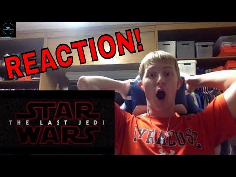 Star Wars: The Last Jedi Trailer #1 (2017) REACTION!