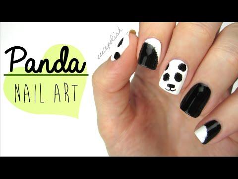 Nail Art: Fuzzy Panda Nails!