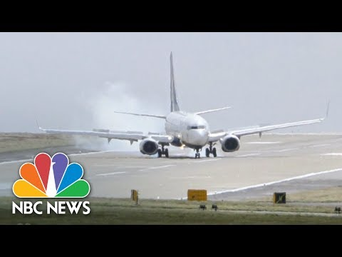 Cross-Wind Landing At Leeds Bradford Airport | Archives | NBC News