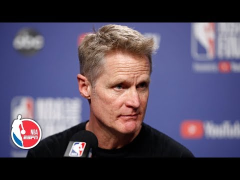 steve-kerr-game-2-postgame-interview:-klay-thompson-injury,-demarcus-cousins-|-2019-nba-finals