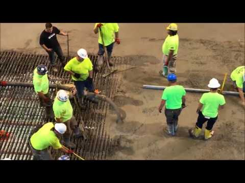 Concrete Pour at Mohegan Sun Arena