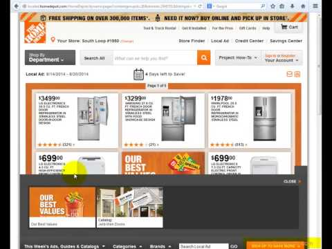 How to get the Home Depot Weekly Ad?