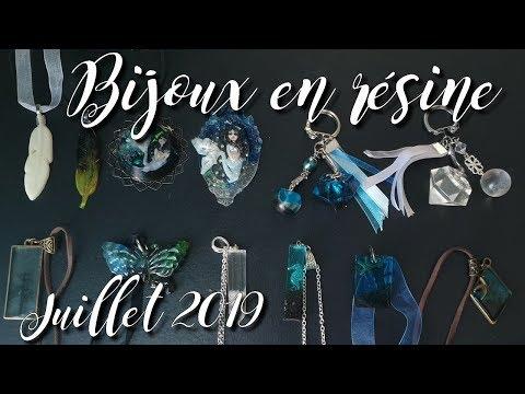 Bijoux en résine - Juillet 2019